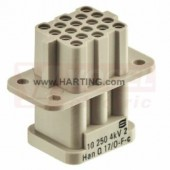 09120173101 Han Q17/0 konektor, Z, 17pin, vel.10A/250V, Crimp., 0,14-2,5mm2 RAL 7032